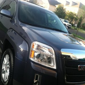 2013 GMC Terrain SLT in Atlantis Blue Metallic.